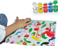 Finger painting Royalty Free Stock Photography