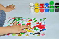 Finger painting Royalty Free Stock Image
