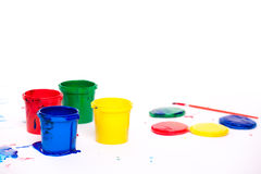 Finger paints Stock Photos