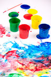 Finger paints Royalty Free Stock Photo
