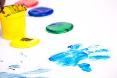 Finger paints Stock Photos