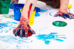 Finger paints Royalty Free Stock Images