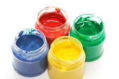 Finger paints Royalty Free Stock Photography