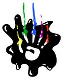 Finger Paints. Hand print symbol stylized, vector illustration, vertical, isolated Royalty Free Stock Photography