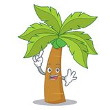 Finger palm tree character cartoon. Vector illustration Stock Photos