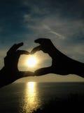 Finger para el amor Fotografía de archivo libre de regalías