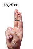 Finger people hugging Royalty Free Stock Photography