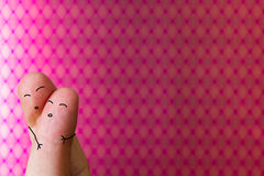 Finger people love Royalty Free Stock Photos
