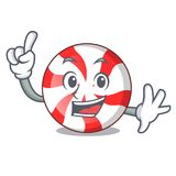 Finger peppermint candy mascot cartoon. Vector illustration Royalty Free Stock Photos