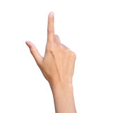 Finger point Royalty Free Stock Photography