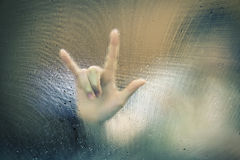 Finger point blur Royalty Free Stock Photo