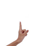 Finger point. Stock Images