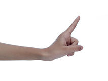 Finger point Royalty Free Stock Photo