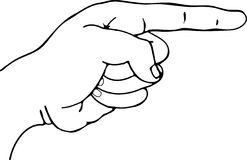 Finger Pointing. Vector illustration of a finger pointing Stock Photo