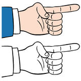 Finger Pointing. An image of a finger pointing Stock Photography