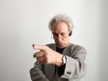 Finger-pointing Stock Image