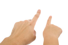 Finger pointing. With white background Royalty Free Stock Image