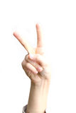 Finger pointing Royalty Free Stock Images