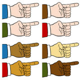 Finger Pointing Set. An image of a finger pointing Stock Photo
