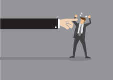 Finger Pointing Vector Illustration Stock Images