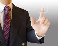 Finger press Stock Image