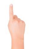 Finger press Royalty Free Stock Image