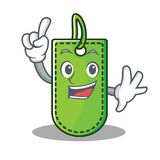 Finger price tag mascot cartoon. Vector illustration Stock Photo