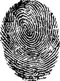 Finger print. Over white background Royalty Free Stock Image