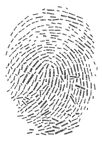Finger print. Illustration of Finger print in word collage Royalty Free Stock Photo