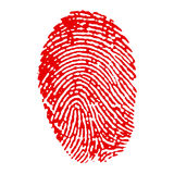 Finger print Stock Photography