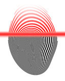 Finger print. On a solid white background Stock Images