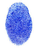 Finger print. Fine image of blue finger print background Stock Photo