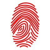 Finger print. Red finger print - a computer generated image Stock Photo