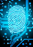 Finger-print abstract background. The blue finger-print abstract background Stock Photography