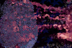 Finger print. Abstract finger print colorful background Royalty Free Stock Images