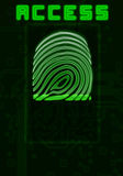 Finger-print background Royalty Free Stock Photography
