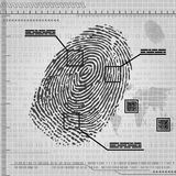 Finger print background. Gray background with fingerprint. eps10 Royalty Free Stock Photo