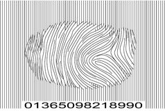 Finger print barcode. Finger print and barcode merge Royalty Free Stock Images