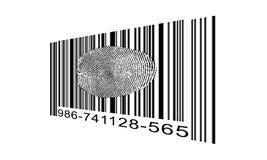 Finger Print Barcode. Finger Print Bar code on diagonal Stock Image