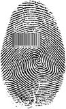 Finger Print Barcode. Black Isolated on white Finger Print Barcode Royalty Free Stock Image