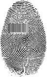 Finger Print Barcode. Black Isolated on white Finger Print Barcode Royalty Free Stock Image