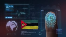 Finger Print Biometric Scanning Identification System. Mozambique Nationality.