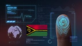 Finger Print Biometric Scanning Identification System. Vanuatu Nationality royalty free stock images