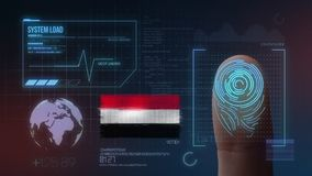 Finger Print Biometric Scanning Identification System. Yemen Nationality stock image