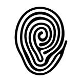 Finger Print. Black Finger Print on White Background. Vector Stock Photo