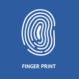 Finger Print Card. Vector. Finger Print Card for Identity Person Security ID on a Blue Background. Vector illustration Stock Photo