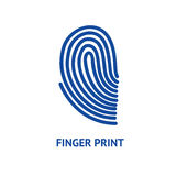 Finger Print Card. Vector. Finger Print Card for Identity Person Security ID on a Light Background. Vector illustration Royalty Free Stock Images