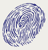 Finger print. Doodle style. Vector sketch Stock Photos