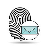 Finger print email icon design. Vector illustration eps 10 Stock Photos