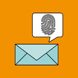 Finger print email icon design. Vector illustration eps 10 Royalty Free Stock Image